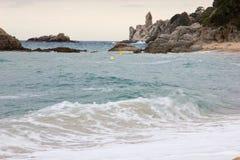 Kustlandschap van Lloret de Mar Stock Foto