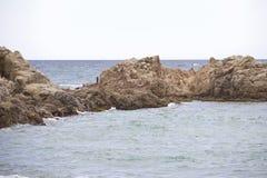 Kustlandschap van Lloret de Mar Stock Afbeeldingen