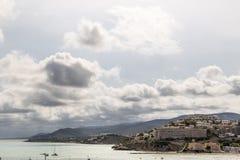 Kustlandskap i Peniscola, Spanien Arkivbilder