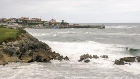 Kustlijn in Asturias stock fotografie