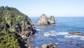 Kustlijn in Asturias stock afbeeldingen