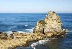 Kustlijn in Asturias royalty-vrije stock afbeelding