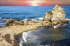 Kustlijn in Asturias royalty-vrije stock foto's