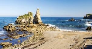 Kustlijn in Asturias stock foto