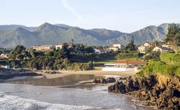 Kustlijn in Asturias royalty-vrije stock foto