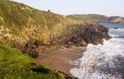 Kustlijn in Asturias royalty-vrije stock fotografie