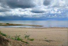 Kustlijn bij de Oostzee. Stock Afbeelding