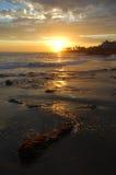 Kustlijn bij zonsondergang in Laguna Beach, Californië royalty-vrije stock fotografie