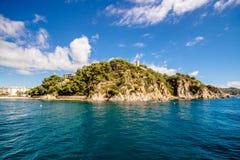 kustlijn in Blanes, Catalonië spanje Royalty-vrije Stock Fotografie