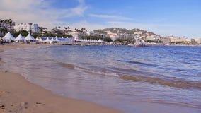 Kustlijn in Cannes stock video