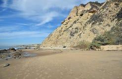 Kustlijn in Crystal Cove State Park, Zuidelijk Californië stock foto's