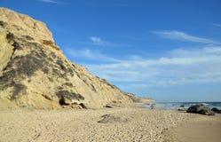Kustlijn in Crystal Cove State Park, Zuidelijk Californië royalty-vrije stock afbeelding