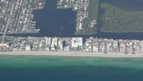 Kustlijn de Zuid- van Florida stock videobeelden