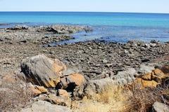 Kust, het Eiland van de Kangoeroe, Australië stock foto