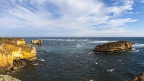 Kustlijn dichtbij Grote Oceaanweg, Haven Campbell National Park, Victoria, Australië stock fotografie