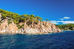 Kustlijn dichtbij Tossa de Mar Royalty-vrije Stock Afbeelding