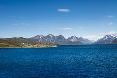 Kustlijn, Groenland stock fotografie
