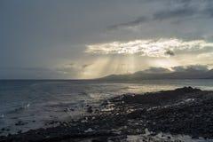 Kustlijn, Lanzarote, Spanje royalty-vrije stock foto's