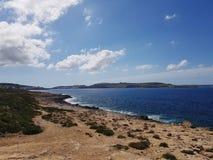 Kustlijn in Malta royalty-vrije stock fotografie