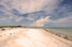 Kustlijn onduidelijk beeld de Achtergrond Mooie van Florida royalty-vrije stock afbeelding