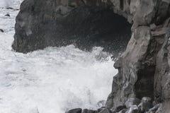 Kustlijn op Lanzarote stock foto