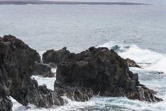 Kustlijn op Lanzarote stock afbeelding