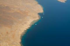 Kustlijn Sinai, Rode overzees Stock Foto's