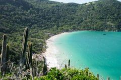 Kustlijn van Arraial do Cabo, Rio de Janeiro, Brazilië stock afbeeldingen