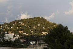 Kustlijn van Capri-eiland, Capri, Italië Royalty-vrije Stock Foto's