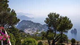 Kustlijn van Capri-eiland, Capri, Italië Royalty-vrije Stock Foto