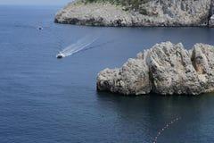 Kustlijn van Capri-eiland, Capri, Italië Stock Fotografie