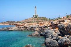 Kustlijn van Costa Calida in het gebied van Murcia, Spanje royalty-vrije stock fotografie