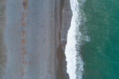 Kustlijn van de kust van de Zwarte Zee dichtbij Kobuleti royalty-vrije stock foto's