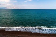 Kustlijn van de Zwarte Zee zonder mensen royalty-vrije stock afbeeldingen