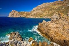 Kustlijn van Falassarna op Kreta Stock Foto's