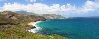 Kustlijn van Heilige Kitts royalty-vrije stock fotografie