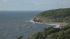 Kustlijn van het eiland van Bornholms stock videobeelden