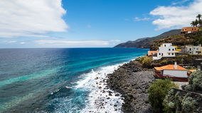 Kustlijn van La Palma royalty-vrije stock afbeelding
