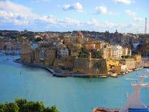 Kustlijn van La Valletta, Malta royalty-vrije stock afbeelding