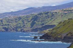 Kustlijn van Noord-Tenerife, Canarische Eilanden royalty-vrije stock foto