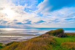 Kustlijn van Opal Coast in Frankrijk royalty-vrije stock foto