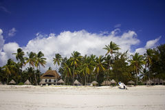 Kustlijn van Paje-dorp, Zanzibar, Tanzania Stock Afbeeldingen