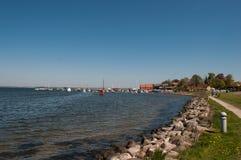 Kustlijn van Presto in Denemarken royalty-vrije stock foto's