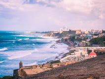Kustlijn van San Juan Puerto Rico Royalty-vrije Stock Afbeelding
