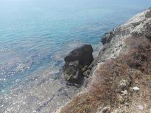 Kustlijn van Sicilië Stock Foto