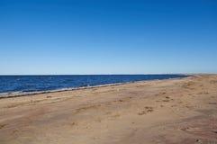 Kustlijn Witte Overzees stock foto