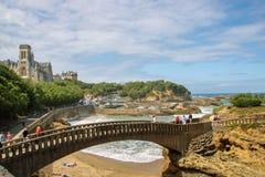 Kustlinje av av Biarritz Royaltyfri Foto