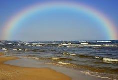 Kustlinje av det baltiska havet Fotografering för Bildbyråer