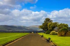 Kustlinje av Greenock i Skottland Royaltyfria Foton