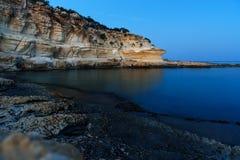 Kustlinje av medelhavet runt om den Akyar regionen Mersin kalkon royaltyfria bilder
